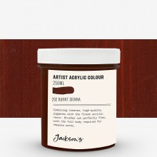 Jackson's : Artist Acrylic Paint : 250ml : Burnt Sienna