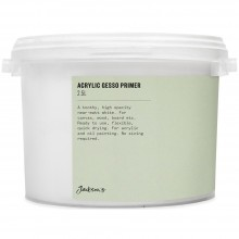 Jackson'S : Acrylic Gesso Primer : 2.5 Litre : Ship By Road Only