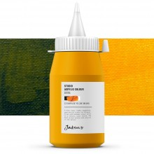 Jackson's : Studio Acrylic Paint : 500ml : Diarylide Yellow (Indian)