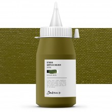 Jackson's : Studio Acrylic Paint : 500ml : Olive Green