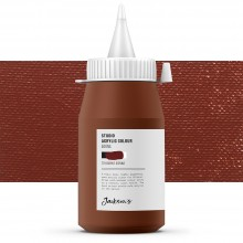 Jackson's : Studio Acrylic Paint : 500ml : Burnt Sienna