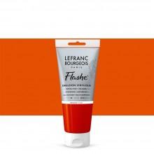 Lefranc & Bourgeois : Flashe : Vinyl Emulsion Paint : 80ml : Fluorescent Orange (206)