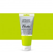 Lefranc & Bourgeois : Flashe : Vinyl Emulsion Paint : 80ml : Fluorescent Yellow (163)