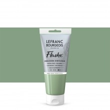 Lefranc & Bourgeois : Flashe : Vinyl Emulsion Paint : 80ml : Green Earth Iridescent (841)