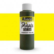 Jacquard : Piñata : Alcohol Ink : 4oz (118ml) : Sunbright Yellow 002 : Ship By Road Only