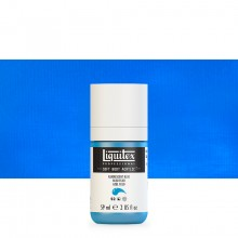 Liquitex : Professional : Soft Body Acrylic Paint : 59ml : Fluorescent Blue