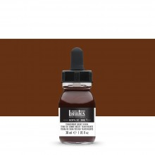 Liquitex : Professional : Acrylic Ink : 30ml : Transparent Burnt Sienna