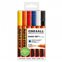 Molotow : One4All : 127HS : Acrylic Marker : Basic Set 1 : 6 Colours