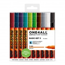 Molotow : One4All : 127HS : Acrylic Marker : Basic Set 2 : 10 Colours