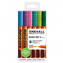 Molotow : One4All : 127HS : Acrylic Marker : Basic Set 2 : 6 Colours