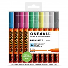 Molotow : One4All : 127HS : Acrylic Marker : Basic Set 3 : 10 Colours