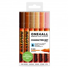Molotow : One4All : 127HS : Acrylic Marker : Character Set of 6