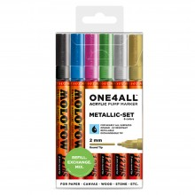 Molotow : One4All : 127HS : Acrylic Marker : Metallic Set of 6