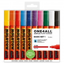 Molotow : One4All : 227HS : Acrylic Marker : Basic Set 1 : 10 Colours