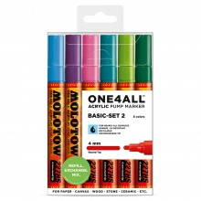 Molotow : One4All : 227HS : Acrylic Marker : Basic Set 2 : 6 Colours