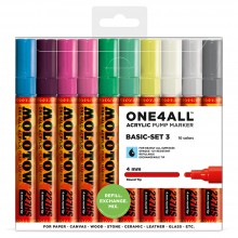 Molotow : One4All : 227HS : Acrylic Marker : Basic Set 3 : 10 Colours