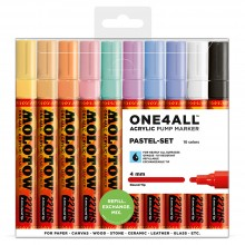 Molotow : One4All : 227HS : Acrylic Marker : Pastel Set : 10 Colours