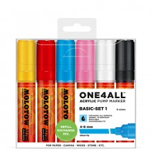 Molotow : One4All : 327HS : Acrylic Marker : Basic Set 1 : 6 Colours
