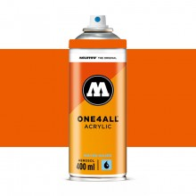 Molotow : One4All : Acrylic Spray Paint : 400ml : Dare Orange : By Road Parcel Only