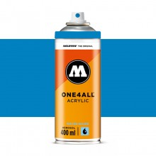 Molotow : One4All : Acrylic Spray Paint : 400ml : Shock Blue : By Road Parcel Only