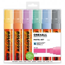 Molotow : One4All : 627HS : Acrylic Marker : Pastel Set : 6 Colours