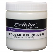Atelier : Acrylic Medium : 250ml : Regular Gel : Gloss