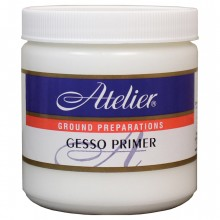 Atelier : Acrylic Medium : 250ml : Gesso Primer : White