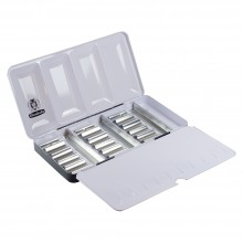 Schmincke : Empty Metal Watercolour Box : Holds 18x5ml Tubes