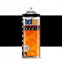 Molotow : Belton Premium Spray Paint : 400ml : Deep Black 221 : Ship By Road Only