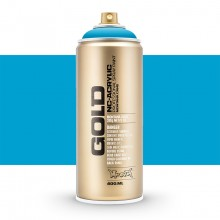 Montana : Gold : 400ml : Light Blue : Opaque : Ship By Road Only