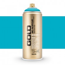 Montana : Gold : 400ml : Power 100% Cyan : Opaque : (Road Shipping Only)