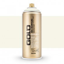 Montana : Gold : 400ml : Shock White Cream : Opaque : By Road Parcel Only