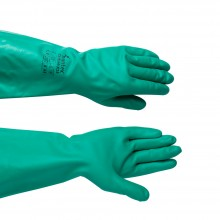 Nitrile Gauntlet : Chemical Resistant 13In Length : Medium