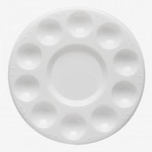 Studio Essentials : Circular Plastic Palette : 7in Diameter : 11 Well
