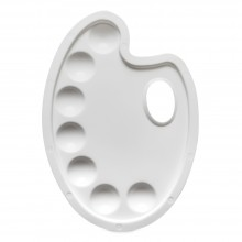 JAS : Plastic Palette : kidney 9 x 6.5 in