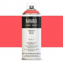 Liquitex : Professional : Spray Paint : 400ml : Fluorescent Red : By Road Parcel Only