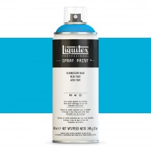 Liquitex : Professional : Spray Paint : 400ml : Fluorescent Blue : Ship By Road Only