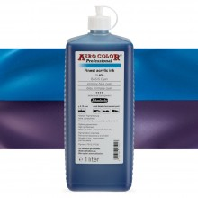 Schmincke : Aero Color Finest Acrylic Ink : 1000ml : Primary Blue Cyan
