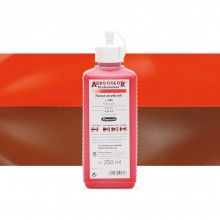 Schmincke : Aero Color Finest Acrylic Ink : 250ml : Scarlet