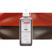 Schmincke : Aero Color Finest Acrylic Ink : 250ml : Burnt Sienna