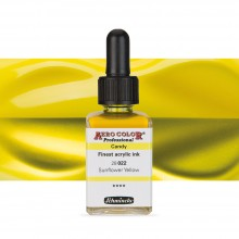 SCHMINCKE : AERO COLOR FINEST ACRYLIC INK : 28ML : CANDY SUNFLOWER YELLOW