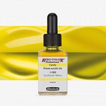 Schmincke : Aero Color Finest Acrylic Ink : 28ml : Candy Sunflower Yellow
