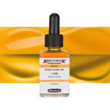 Schmincke : Aero Color Finest Acrylic Ink : 28ml : Candy Yellow Gold