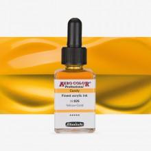SCHMINCKE : AERO COLOR FINEST ACRYLIC INK : 28ML : CANDY YELLOW GOLD