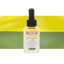 Schmincke : Aero Color Finest Acrylic Ink : 28ml : Lemon Yellow