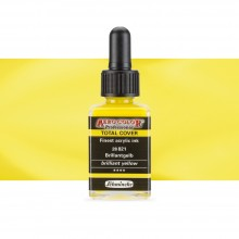 Schmincke : Aero Color Finest Acrylic Ink : 28ml : Total Cover : Brilliant Yellow