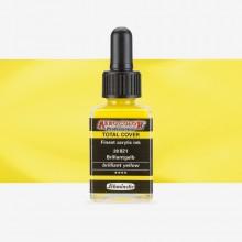 Schmincke : Aero Color Finest Acrylic Ink : 28ml : Total Cover : Brilliant Yellow