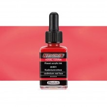 Schmincke : Aero Color Finest Acrylic Ink : 28ml : Total Cover : Cadmium Red Hue