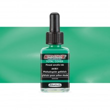 Schmincke : Aero Color Finest Acrylic Ink : 28ml : Total Cover : Phthalo Green Yellow Shade