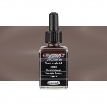 Schmincke : Aero Color Finest Acrylic Ink : 28ml : Total Cover : Vandyke Brown